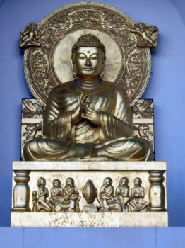 Seated Buddha In Peace Pagoda North Facing Alcove by aegiandyad