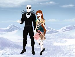 Jack Skellington and Sally by musicmermaid