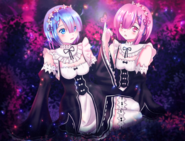 Rem And Ram by BTsumia
