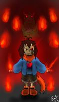 Endertale frisk by lycanwolf378