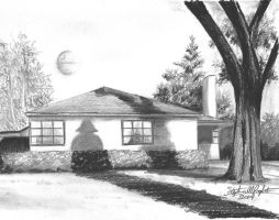 George Lucas' childhood home by tbonematrix