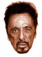 Al Pacino digital portrait by rageofreason