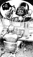 Vader and the Imperial technician by vsqs