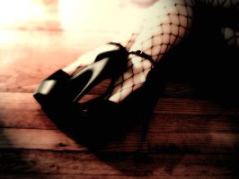 Fishnet and Heels by 8thRaven