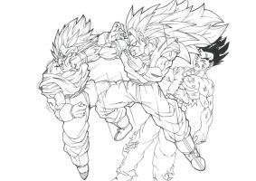 DBM Vegeto vs Goku by Blood-Splach