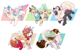 Creamy Dreamy Doggos (Closed) by LunarAdopts