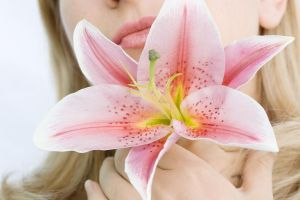Woman with lily flower I by MotHaiBaPhoto