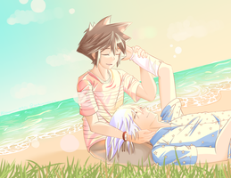 Kingdom Hearts-By The Ocean [SoRiku] by xXKurisshiXx