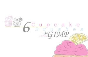 Cupcake Brushes for GIMP by SirProngs