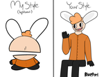 [My Style Your Style meme] what an orange boio by BluePorl