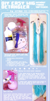DIY, Easy Wig Detangler Without Fabric Softener by xirimpicosplay