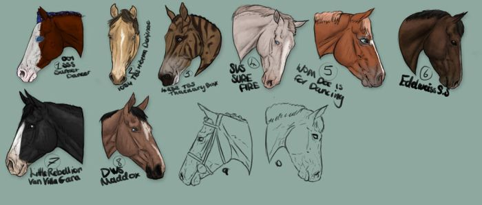 YYH- 20pts each by WB-Equine-Art