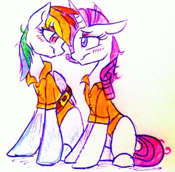 Commission: Rarity and Rainbow Dash by HiccupsDoesArt
