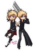 Prompto and Cloud by BermudaGZB