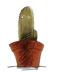 Zombie Cactus by FindChaos