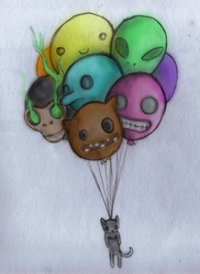 Balloon Cat is Yes by dylanisyes