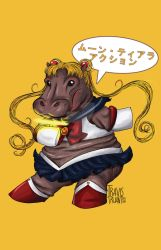 Sailor Moon Hippo by TravisTruant