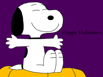 CarolineKiss 9 0 Snoopy Wishing Happy Halloween By MarcosPower1996