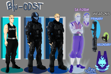 Scout Reference - Blu ODST (My AU is shit) by MaggotPsycho115