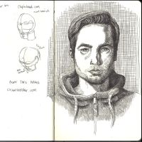 Sketchbook - Selfie homework by keiross