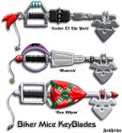 Biker Mice Keyblades by FabFelipe