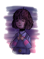 Lil Frisk | Colored sketch by omenarem