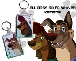 All Dogs go to Heaven keyring by Velvet-Loz