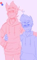 Tol Tord And Smol Tom by mork-a-boo