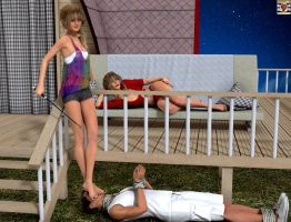 Younger sister very like humiliate MY boyfriend by kirgen71
