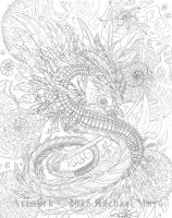 Fire of Ages 02 pencil by rachaelm5