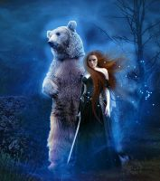 Merida And Bear by MelieMelusine