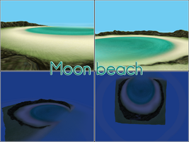 MMD Moon beach DL by kaahgomedl