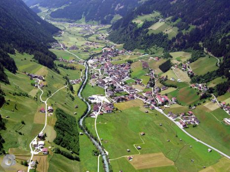 Neustift Stubaital from above by IndianRain