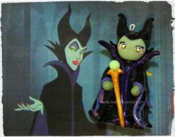 Chibi Charms: Maleficent by Marielishere