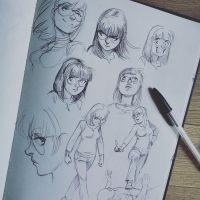 Sketchbook's sample - Girl character design by tonton-jojo