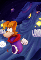 Rayman And Mr. Dark by Feniiku