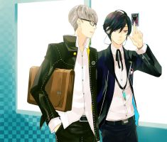 persona3 and 4 : Yu and Minato by MissIfa