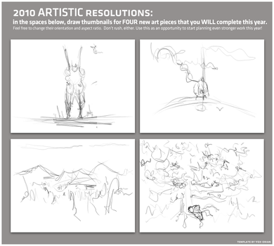 Four artworks for 2010 by compliment-pin