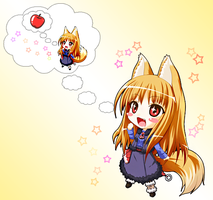 Spice and Wolf - Holo by yukate