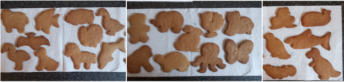 Gingerbread animals by twilightlinkjh