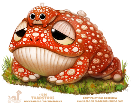Daily Paint 1936# Toadstool by Cryptid-Creations