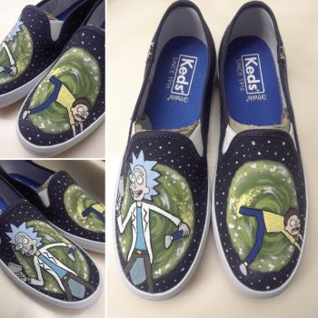 Rick and Morty Shoes by kayleigh29