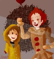 Pennywise and Georgie (Request) by SnowySknows