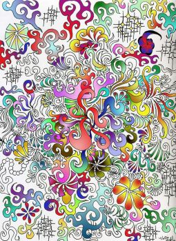 half colored swirls... by Poess