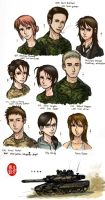 Character Roster 2013 + Bio by NDTwoFives