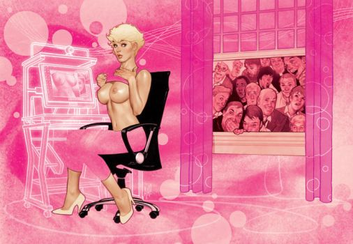 Playboy Illustration by AdamHughes