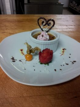 Raspberry White Chocolate Creme Brulee by Xavria