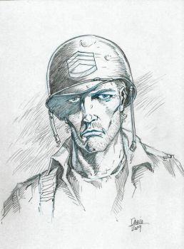 Sgt. ROCK convention sketch by Darry