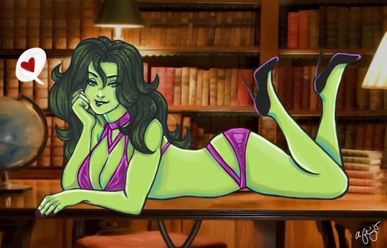 She Hulk Commission by Miss-Excentrique