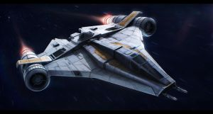 Star Wars Koensayr ETL-14 assault starfighter by AdamKop